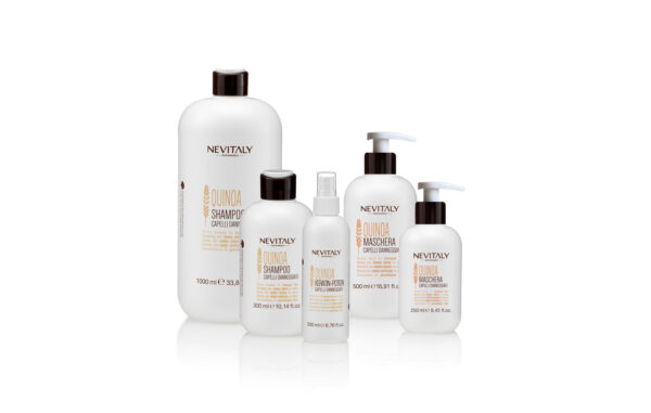 Nevitaly Sustainable, Quinoa, linea di prodotti professionali per capelli danneggiati.