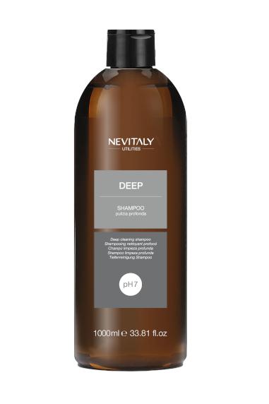 Shampoo pulizia profonda Deep. Prodotti linea Utilities Nevitaly